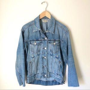 Madewell oversized reconstructed denim jacket